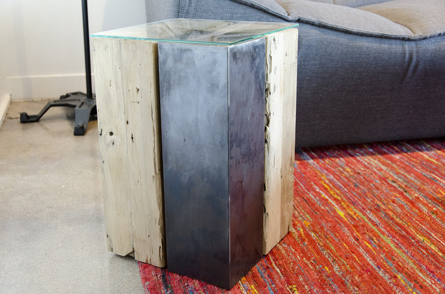 Lotus Iron Side Table