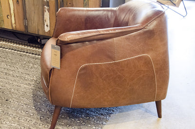 Martel Tan Leather Club Chair