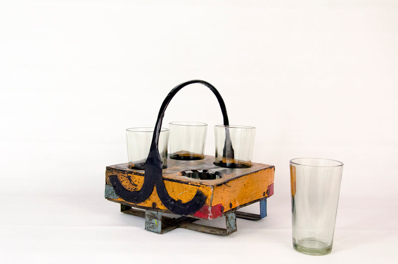Patio Party Carrying Caddy and Glasses