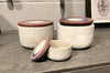 Ceramic Earth Tone Canisters