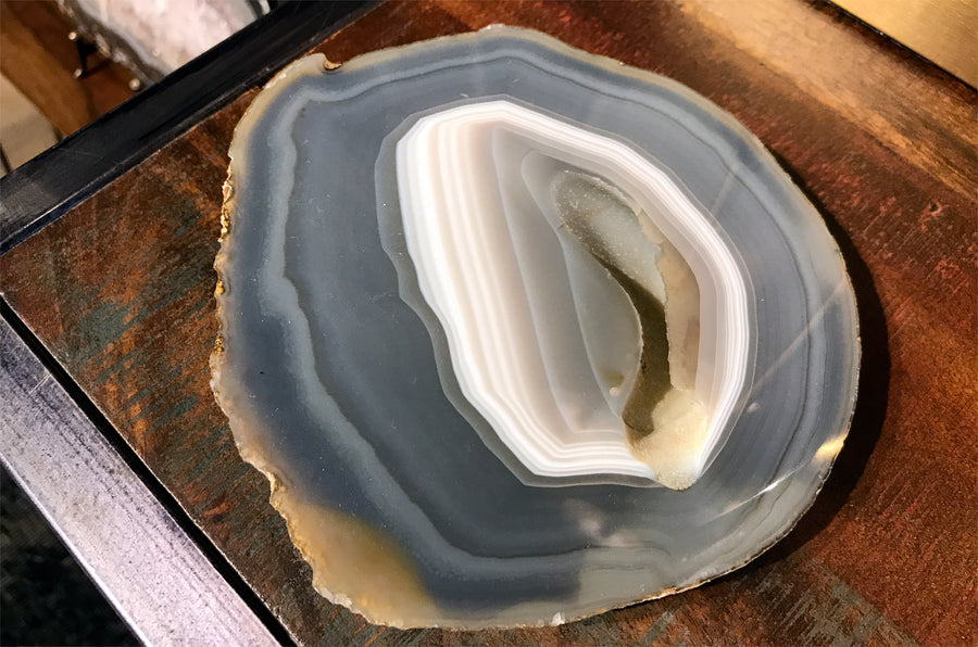 Flat Sliced Agate