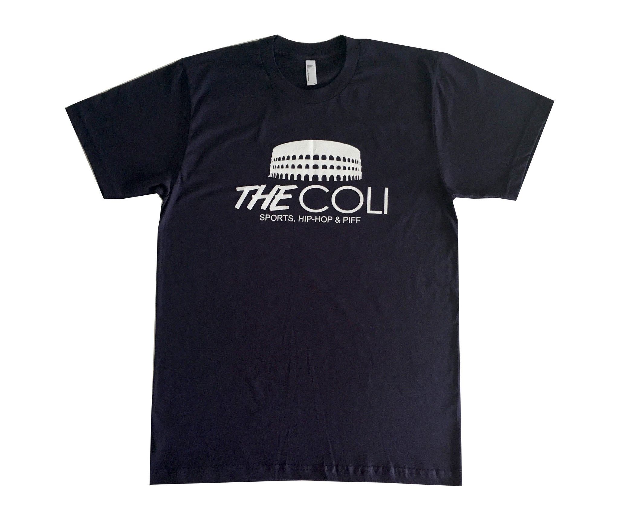 Coli Logo T-Shirt | Navy Blue/White