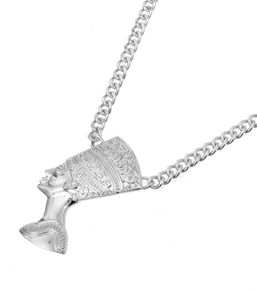 Nefertiti pendant chain necklace touch of style nefertiti pendant chain necklace nefertiti pendant chain necklace mozeypictures Gallery