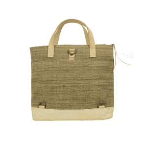 LEILA CONVERTIBLE TOTE—NATURAL