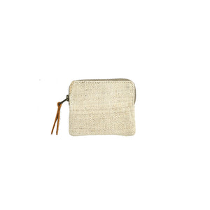 RUPEE ZIP POUCH—NATURAL