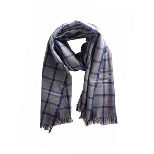 RICKSHAW WOOL SCARF—GREY