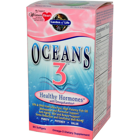 Garden of Life Oceans 3 Healthy Hormones with OmegaXanthin