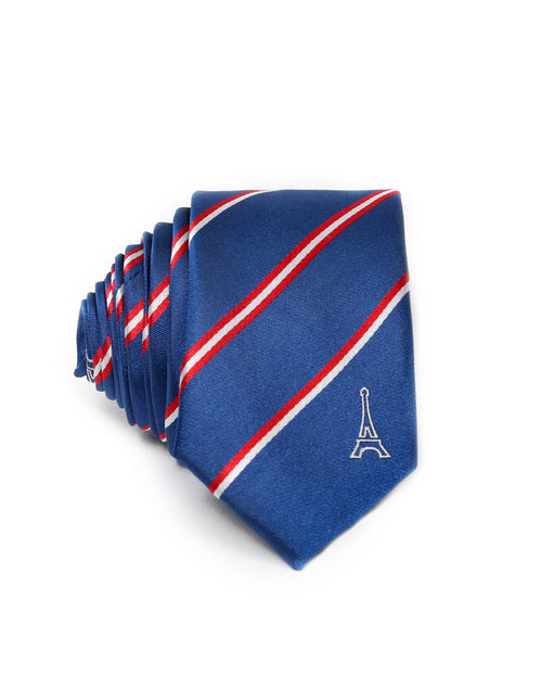 France Blue Tie