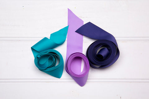 Turquoise, Lilac and Navy ribbon