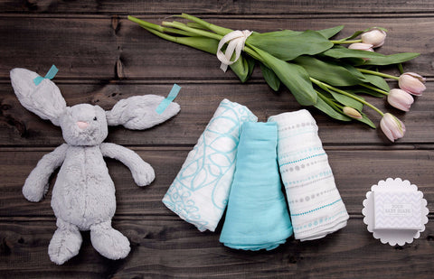 Blue Snuggle Bunny - Baby Hampers