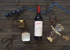 Open image in slideshow, Baby Grange Hamper with Penfolds Bin 389