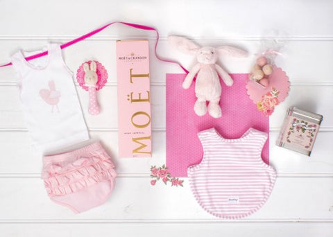 Pink Bubbly Bunny - Baby Hampers