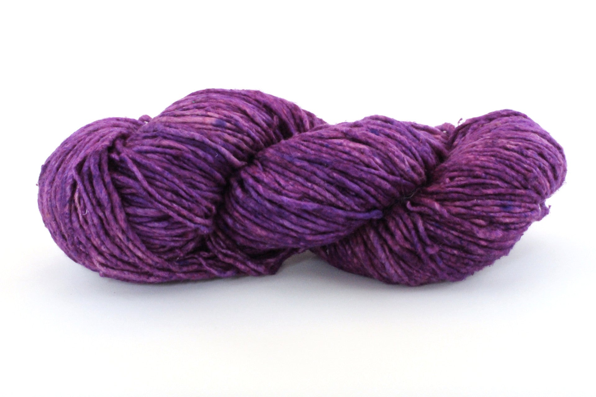 Reclaimed Silk Yarn - Purple