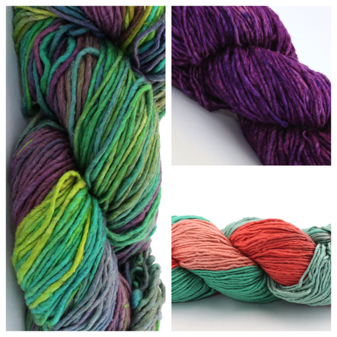 Reclaimed Silk Yarn - Worsted Weight