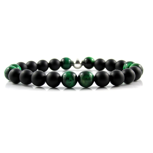 Matte Onyx x Green Tiger Eye