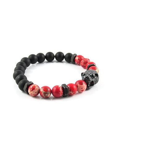 Gunmetal Black Panther | Red Sediment x Matte Onyx x Matte Black Bolts