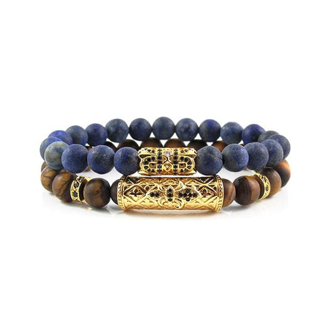 The Royal Stack | Matte Tiger Eye x Matte Lapis Lazuli
