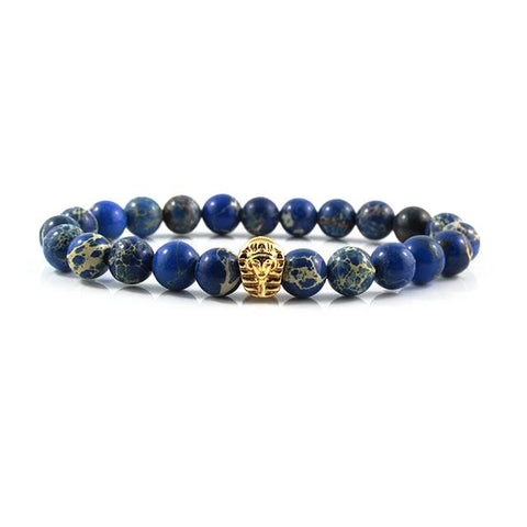 18kt. Gold Plated Great Sphinx | Blue Sediment