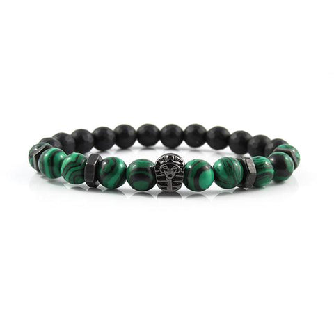 Gunmetal Black Great Sphinx | Malachite x Faceted Matte Onyx x Matte Black Bolts