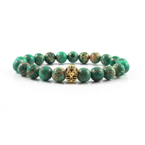 18kt. Gold Plated Great Sphinx | Green Sediment