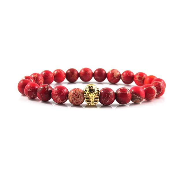 18kt. Gold Plated Great Sphinx | Red Sediment