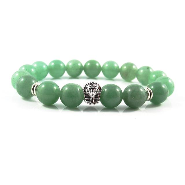 18kt. White Gold Plated Great Sphinx | Jade