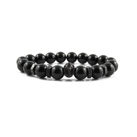 Gunmetal Black Great Sphinx | Agate x Matte Black Bolts