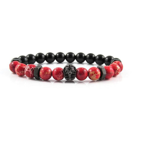 Gunmetal Black Great Sphinx | Red Sediment x Agate x Matte Black Bolts