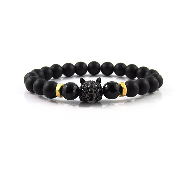 Lykaon | Matte Onyx x Faceted Agate x Bolts