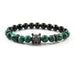 Gunmetal Black Lykaon | Malachite x Faceted Agate x Matte Black Bolts