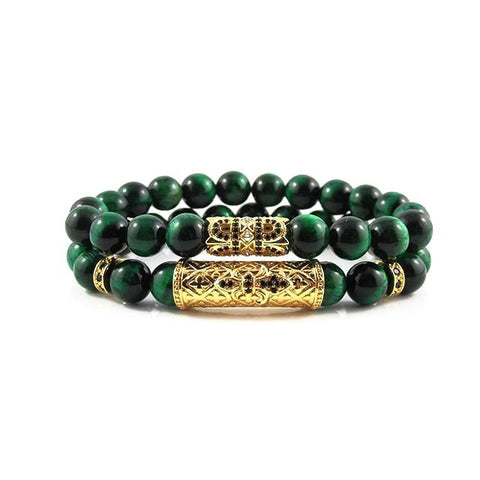 The Royal Stack | Green Tiger Eye