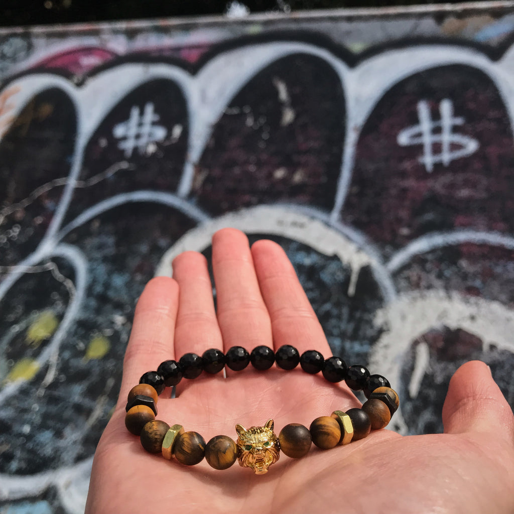 Lykaon | Matte Tiger Eye x Agate x Bolts
