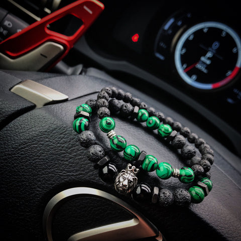Artaxias | Lava x Malachite Matte Black Bolt Stack
