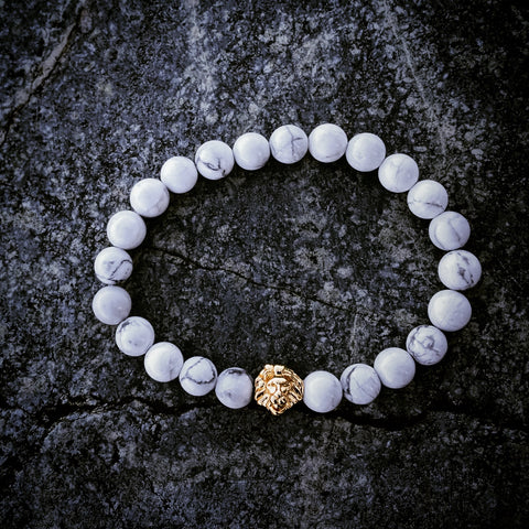 Leo | White Greek Howlite