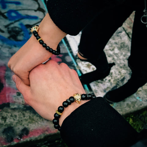 his & hers Lykaon | Agate x Faceted Agate x Bolts