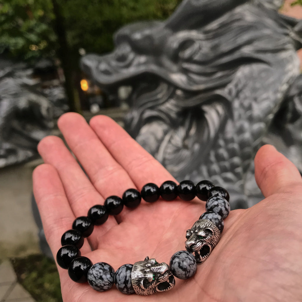 Panthers | Snowflake Obsidian x Agate