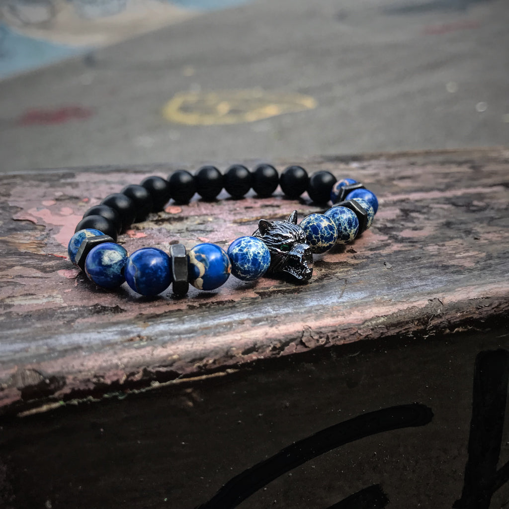 Lykaon | Blue Sediment x Onyx x Matte Black Bolts