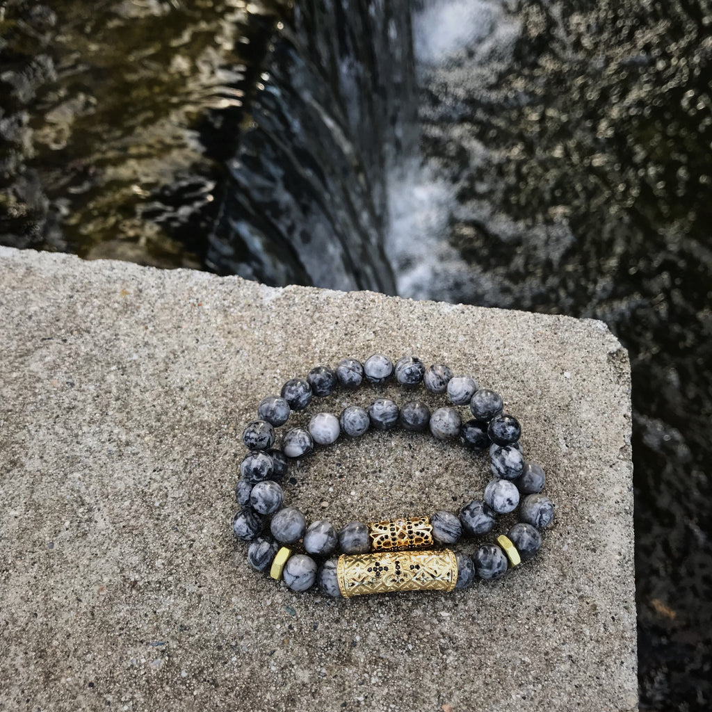The Royal Stack | Grey Jasper Stone x Bolts