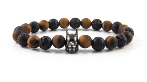 Gunmetal Black Batman | Frost Tiger Eye x Lava Stone