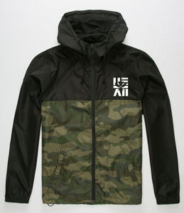 Black/Camo Windbreaker