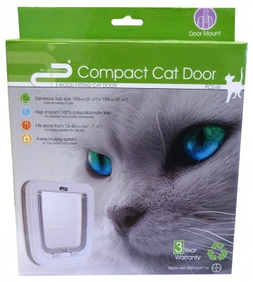 CAT DOOR COMPACT WOOD FITTING - WHITE PC0-W