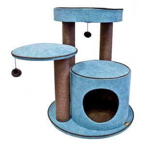 PP CAT SCRATCHER 3 TIER MEADOWS