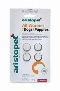 Aristopet All Wormer Dog/Puppy 4PK