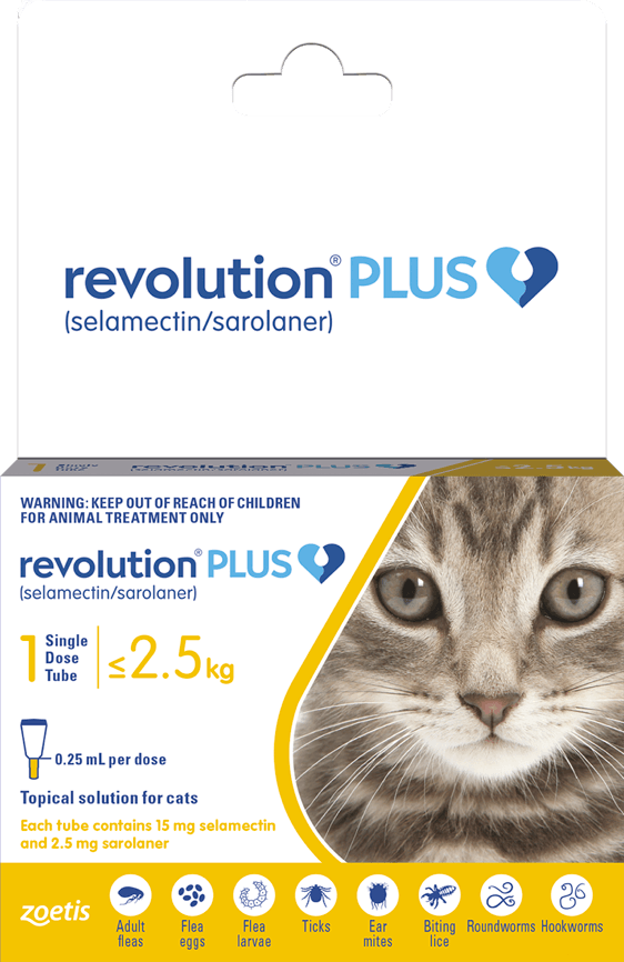 Revolution Plus Cat Up To 2.5KG Single