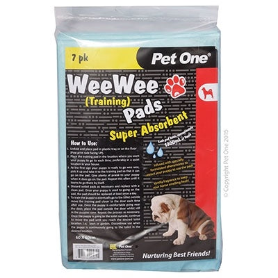 Pet One Wee Wee Training Pads 7 Pack