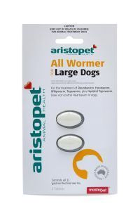 Aristopet All Wormer Large Dogs 2 Pack