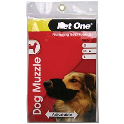 Pet One Muzzle Nylon Adjustable Medium