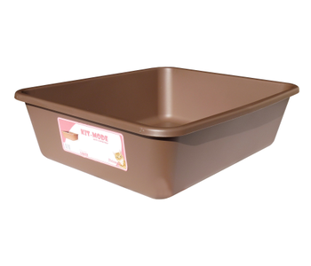 CAT LITTER TRAY LG - CHOCOLATE