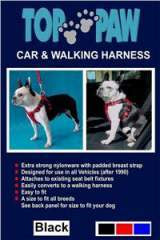 CAR & WALKING HARNESS LG BLK