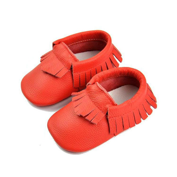 Mocassin cow leather red